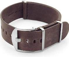 SALE 40% (29.99$) DASSARI Veteran Italian Leather G10 NATO Zulu Watch Strap in Vintage Brown 22mm