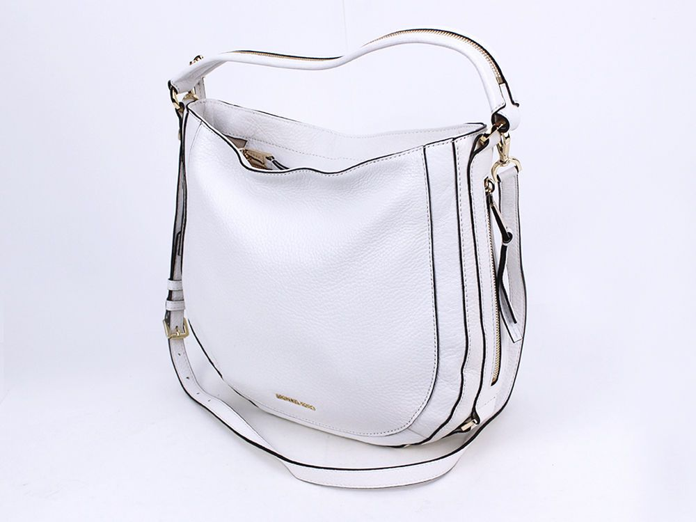 NEW Michael Kors Julia Medium Convertible Shoulder Bag Optic White   MichelleKors… 0604ee321a