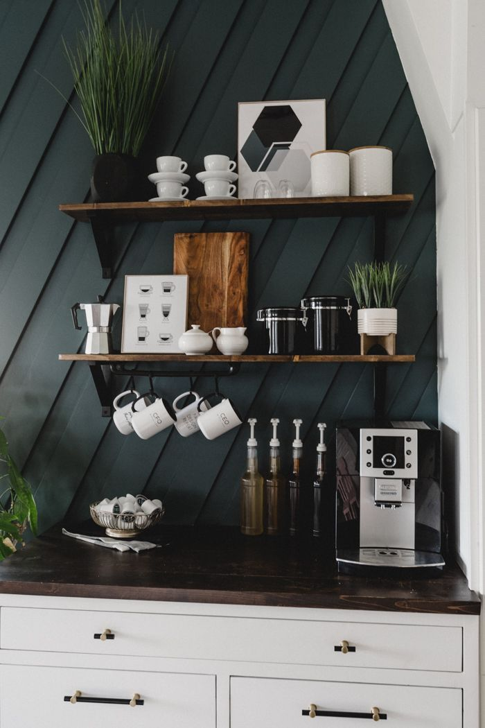 Home Decor Ideas Pinterest - Discover 20 wall decor ideas -   15 diy projects Kitchen coffee stations ideas