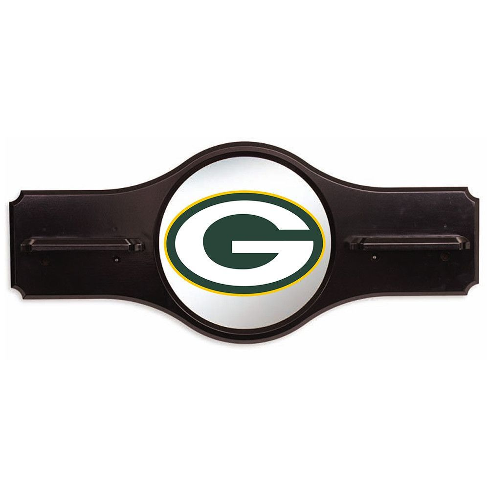 Green Bay Packers NFL Mirror Wall Cue Rack