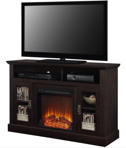 Details About Electric Fireplace Tv Stand Media Console Wood