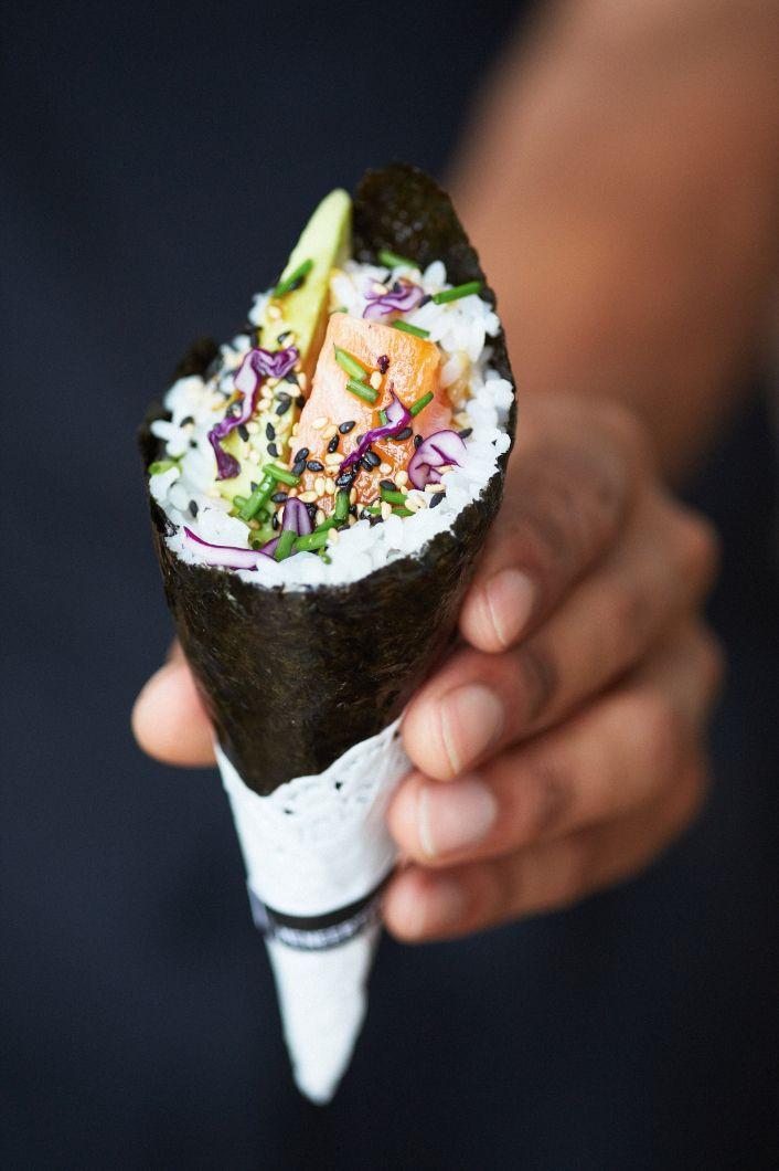 Темаки суши | Красивые картинки в 2020 г | Японская еда ...