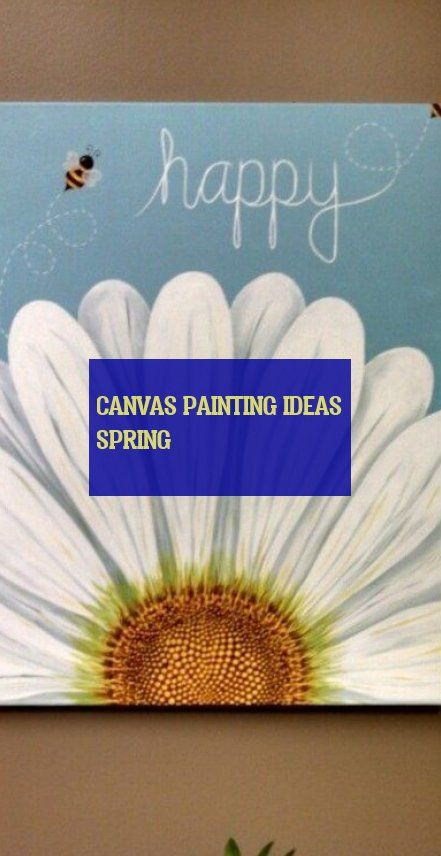 canvas painting ideas spring