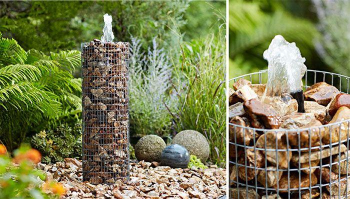 How To Build A Pond Or Water Garden In Your Yard Rock Fountain Diy Garden Fountains Solar Fountain