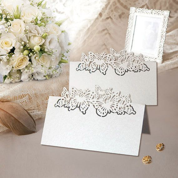 120pcs laser cut butterfly Place Card 9x9cm by WeddingFavorStore, $35.00