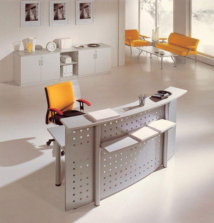 2012 nueva oficina de diseño curvo de metal escritorio de recepción - diseo de escritorios