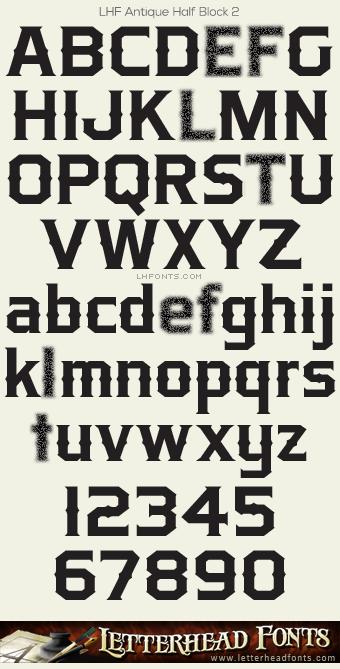 Letterhead Fonts Lhf Antique Half Block Font Set Western Fonts Lettering Alphabet Western Font Lettering