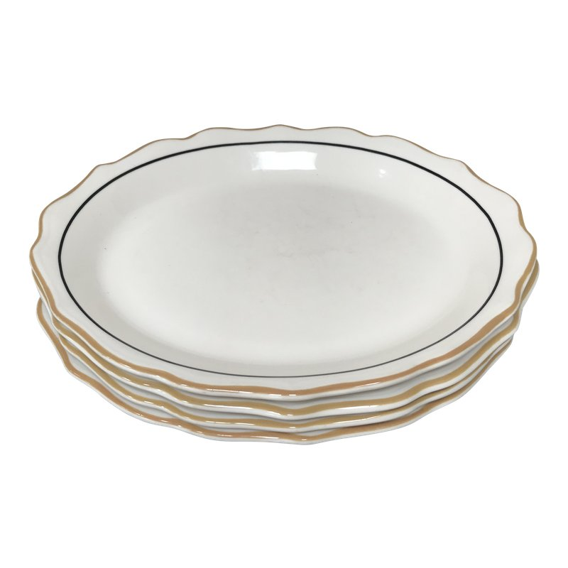 20th Century Traditional Syracuse Oval Ivory Serving