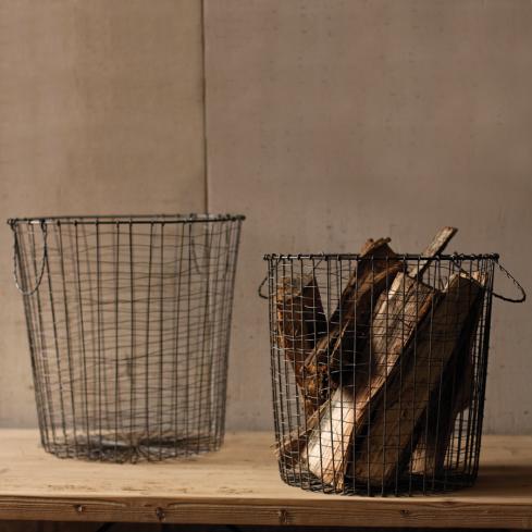 Raw Metal Wire Baskets - Set of 2