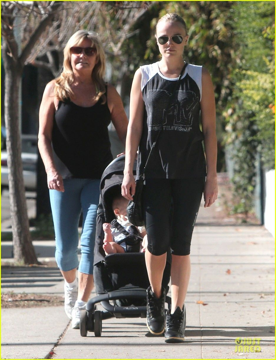 Malin Akerman takes a walk in Los Feliz, CA with her adorable son Sebastian in the PEPP!  via JustJared