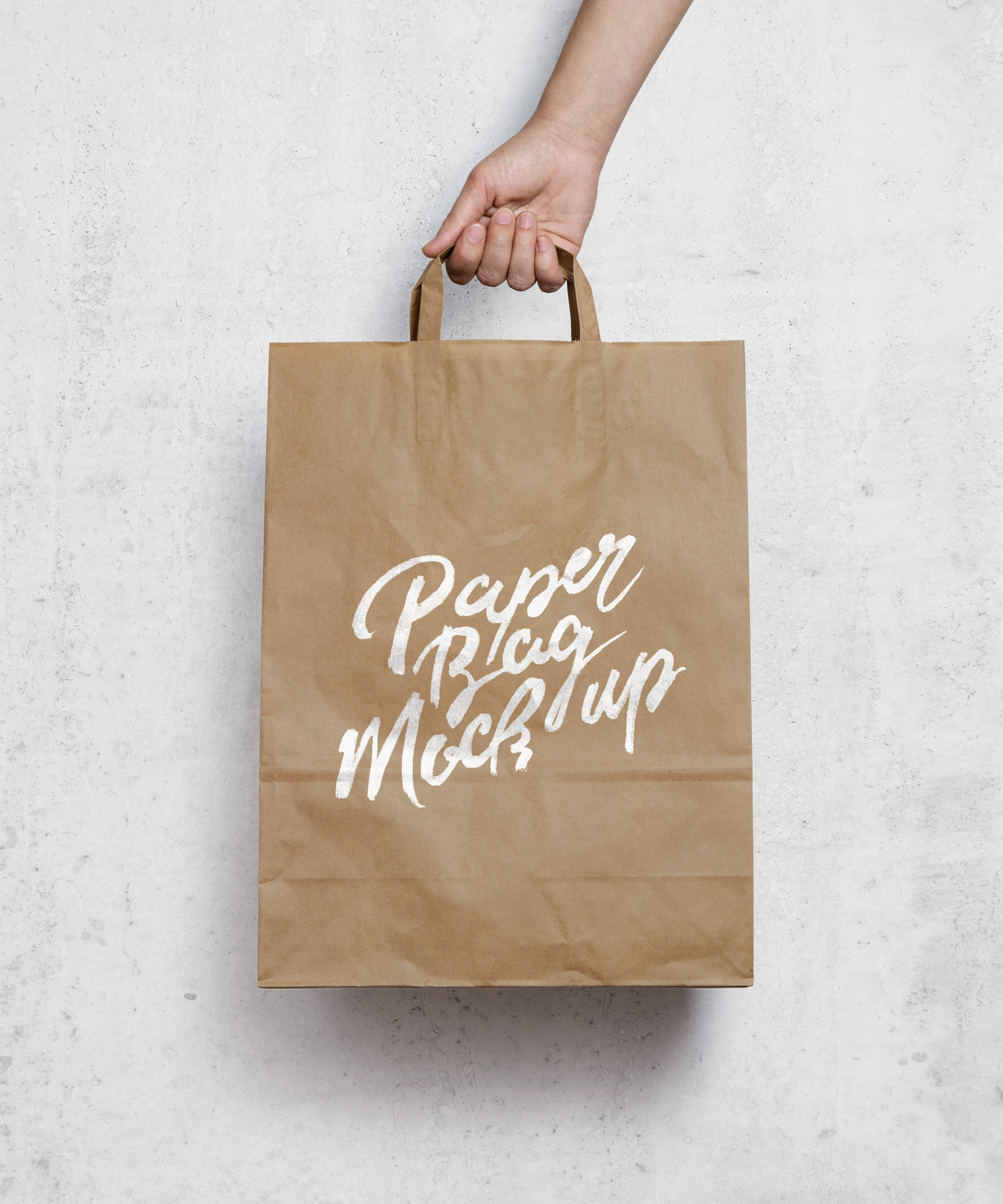 5613+ Paper Bag Mockup Black Photoshop File