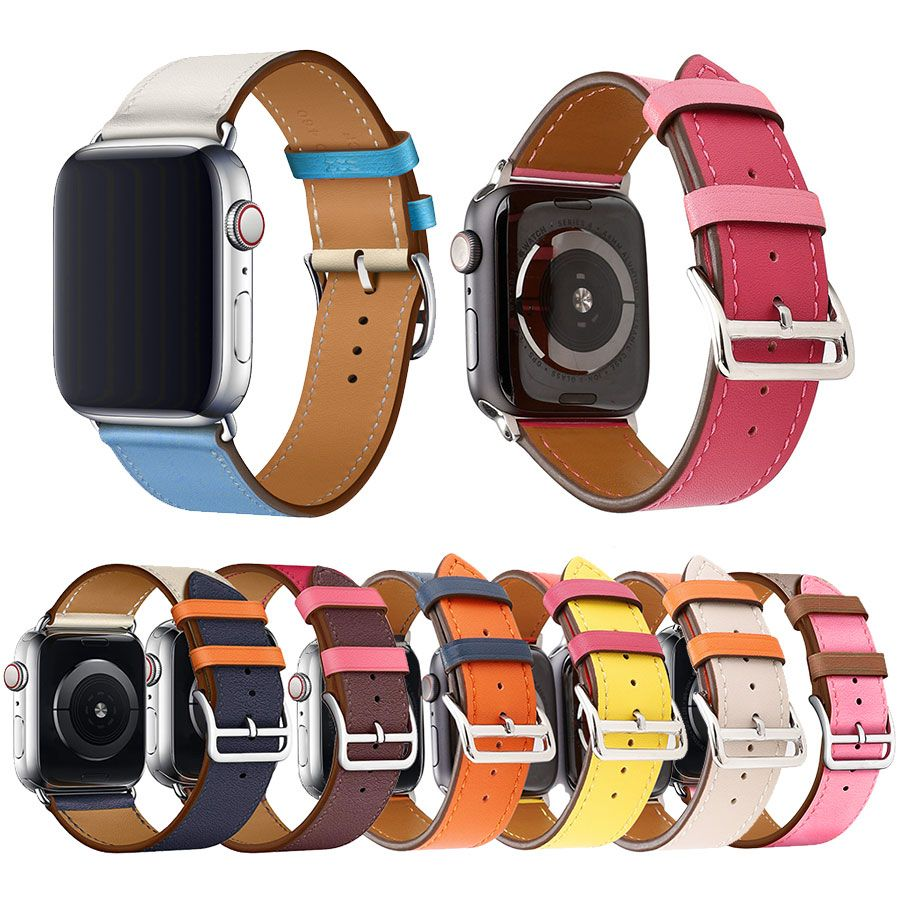 Genuine Leather Strap Band for Apple Watch 42mm 44mm