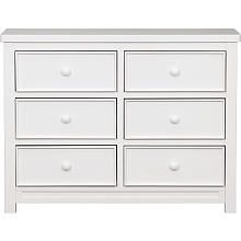 Delta Children Bennington 6 Drawer Dresser White Ambiance