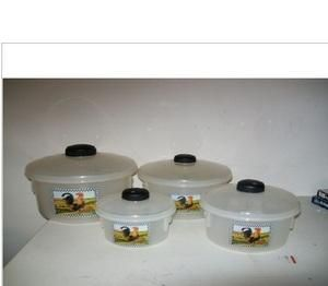 ROOSTER DESIGN CANISTER SET PLASTIC 4 PIECE
