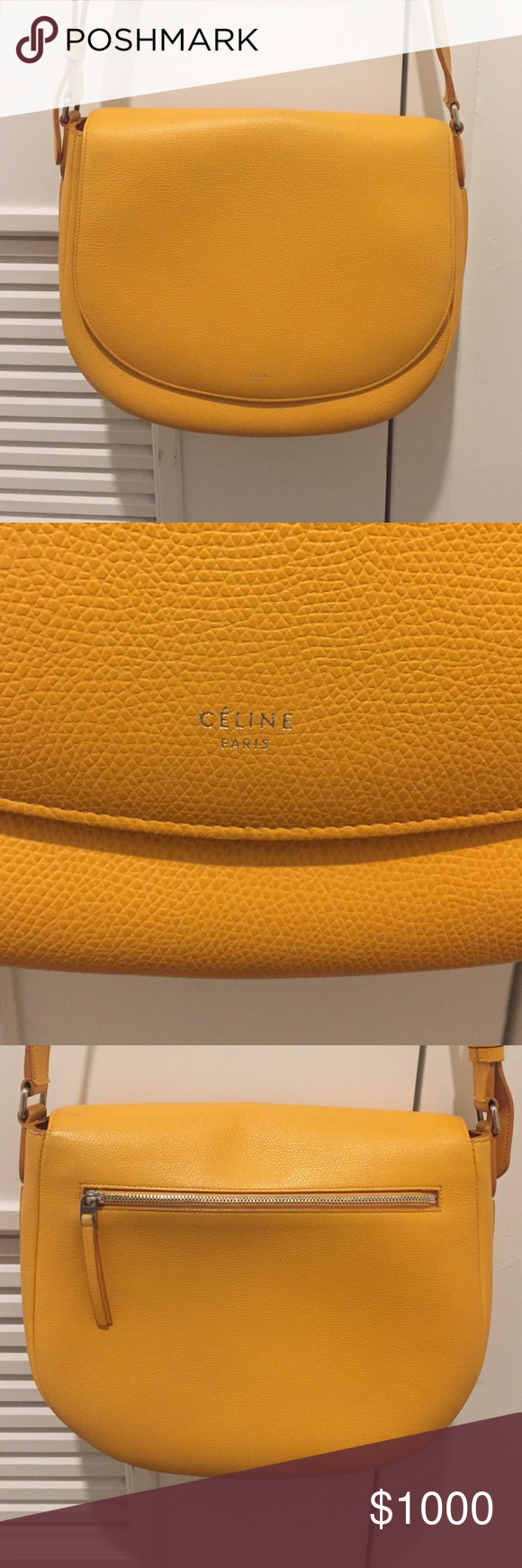Celine bag Yellow cross body or shoulder Celine bag ..perfect condition inside and out with dust bag Celine Bags Crossbody Bags