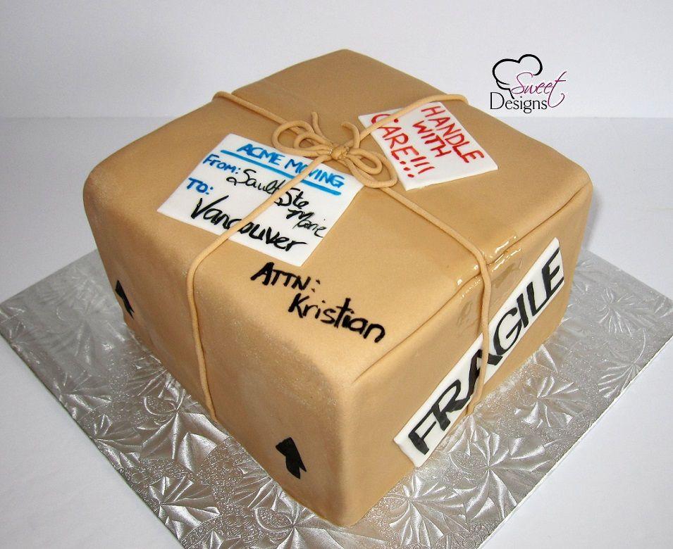 Moving Box Cake Housewarming Cake Going Away Cakes Farewell Cake
