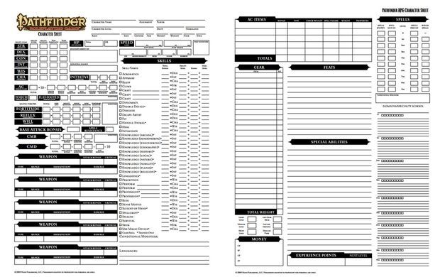Creating a Character Using the Pathfinder Roleplaying System | 1