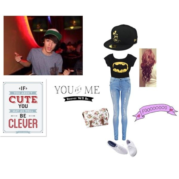 Laser Tag with Brent Rivera. by dirtydiana143 on Polyvore featuring polyvore fashion style Boohoo Keds Forever 21 Disney