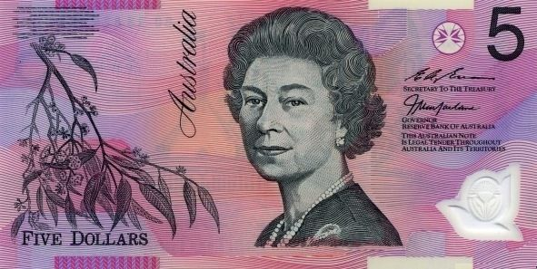 Australia P 51 Bank Notes Dollar Banknote Dollar Note