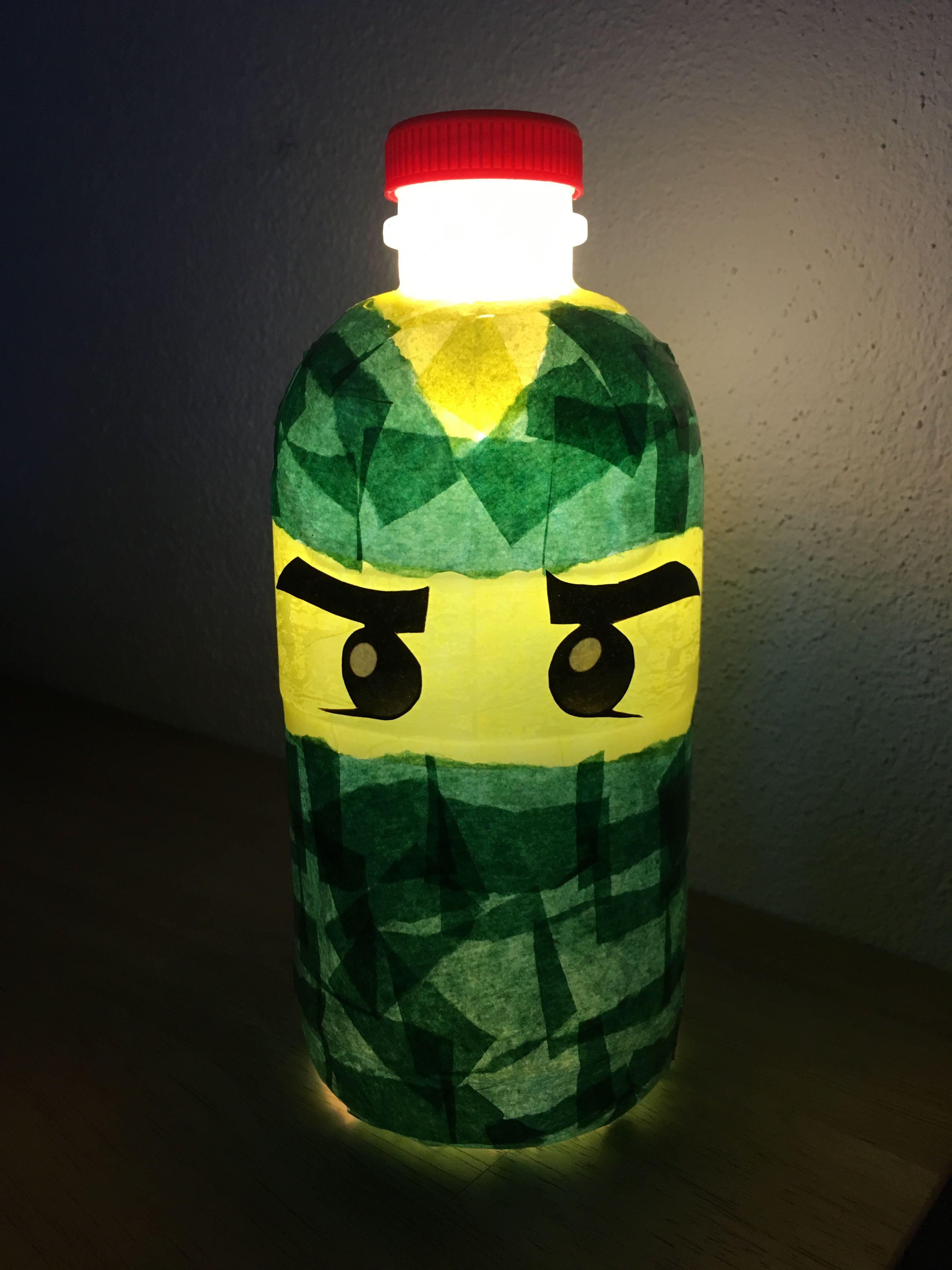 Ninjago Lloyd Laterne aus PET-Flasche #laternebasteln Ninjago Lloyd Laterne aus ...
