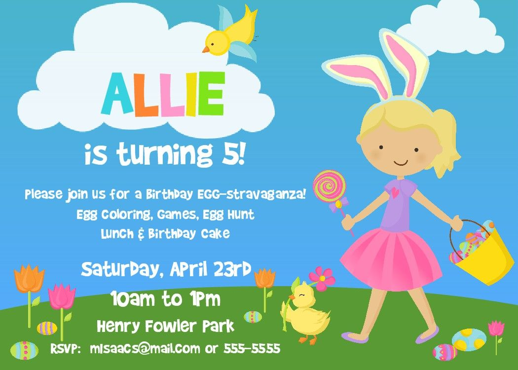 Download now easter birthday invitations ideas free printable easter birthday party invitation printable by bear river photo greetings filmwisefo