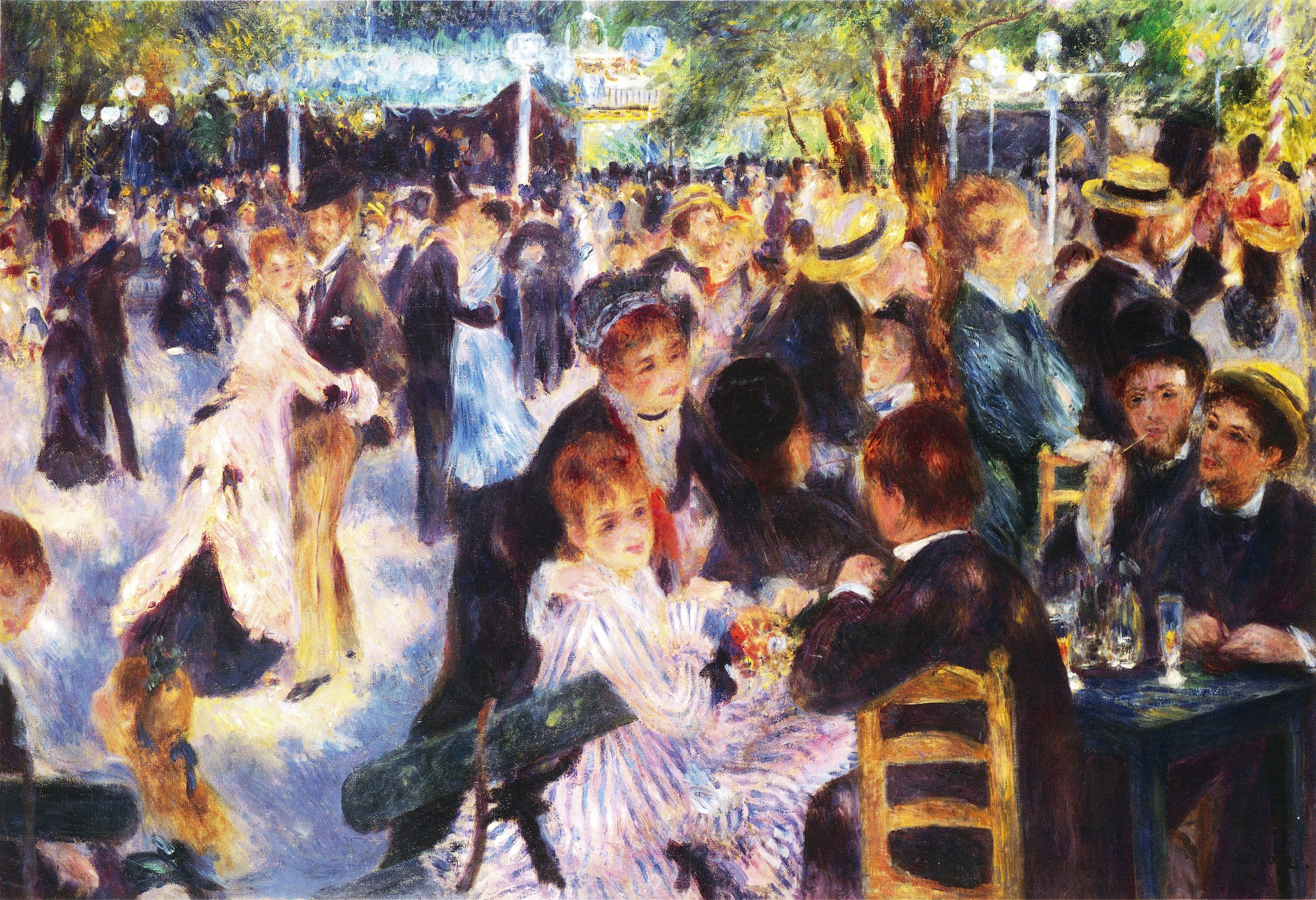 Bal du moulin de la Galette - Wikipedia, the free encyclopedia (With images)   Renoir, Pierre ...