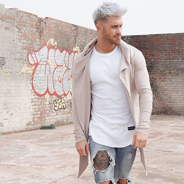 men inspiration men's fashion spring summer jeans dyed light colors white