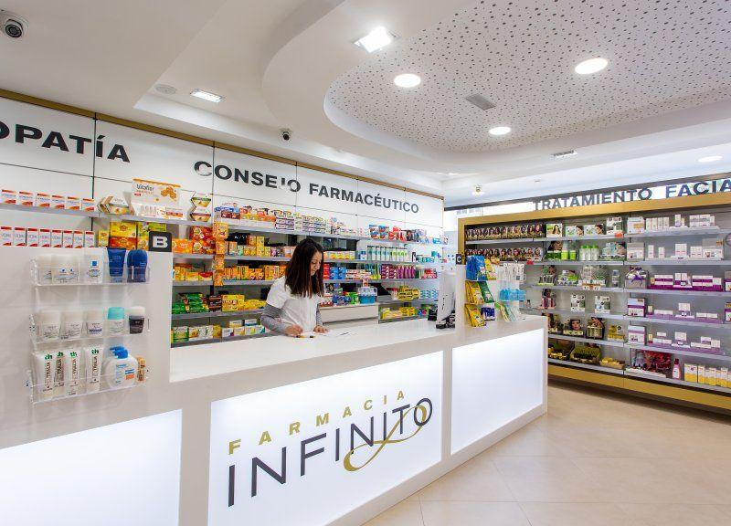 Diseño y reforma de farmacias modernas en Canarias. Mostradores ...