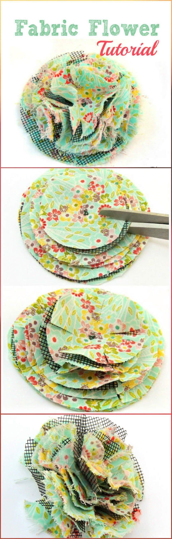 50 Easy Fabric Flowers Tutorial – Make Your Own Fabric Flowers #fleursentissu