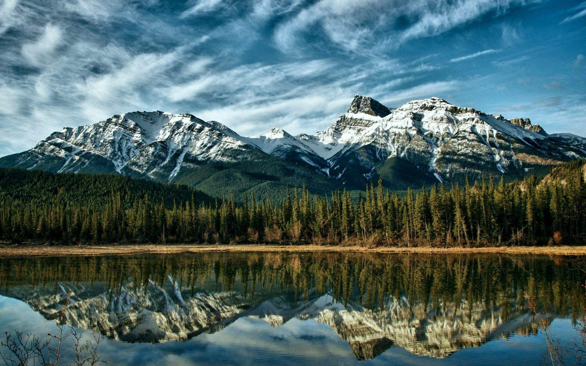 Peaceful Mountain Lake 19201200 Beau Paysage Fond Ecran Paysage Lac