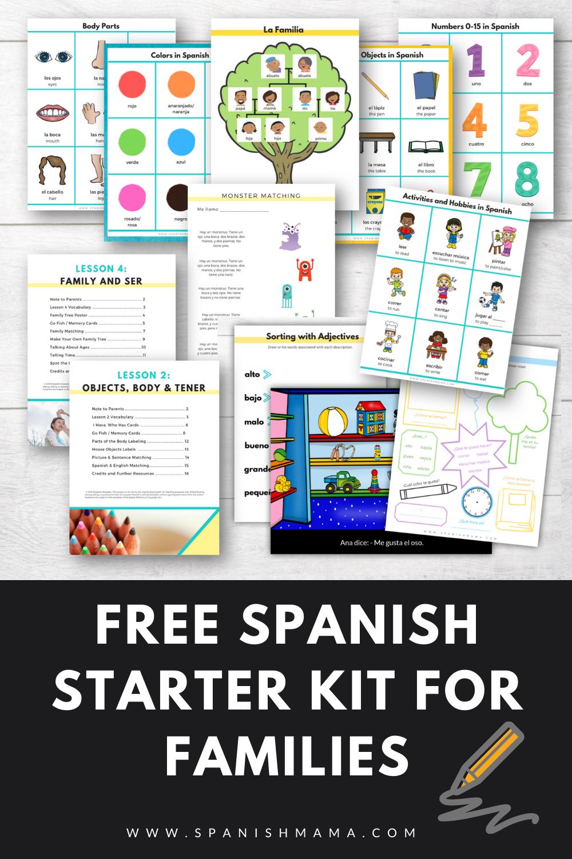 Spanish For Kids Starter Kit In 2021 Elementary Spanish Lessons Elementary Spanish Spanish Lessons [ 1500 x 1000 Pixel ]