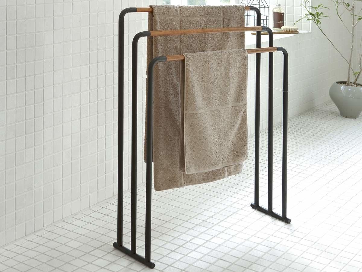 Yamazaki Home Handtuchhalter Freistehend 3 Stangen 86 76 Handtuchhalter Halte Durch Toilettenpapier Stander