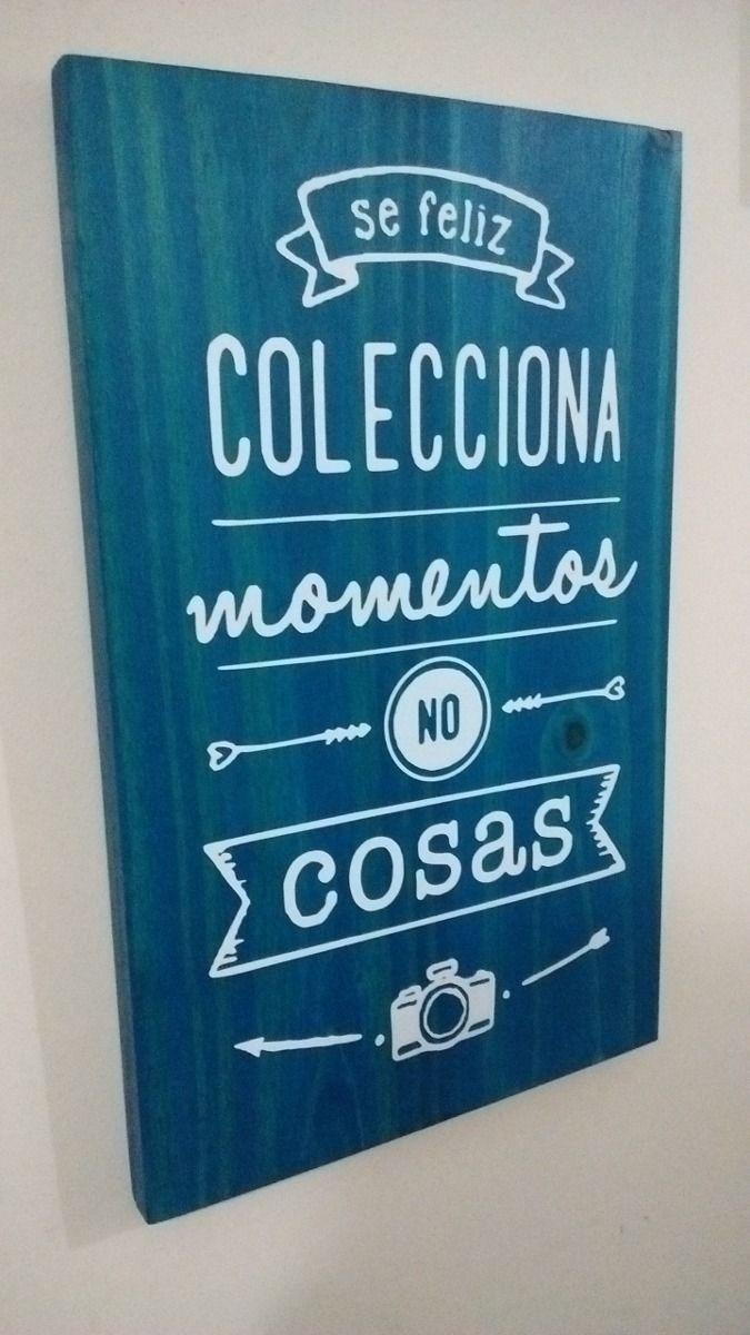 Cuadros Con Frases En Madera Modernos Decoracion 20x30 Cm 95