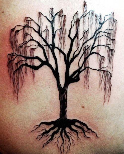 Black Dead Tree With Roots Tattoo Dead Tree Tattoo Willow Tree Tattoos Roots Tattoo