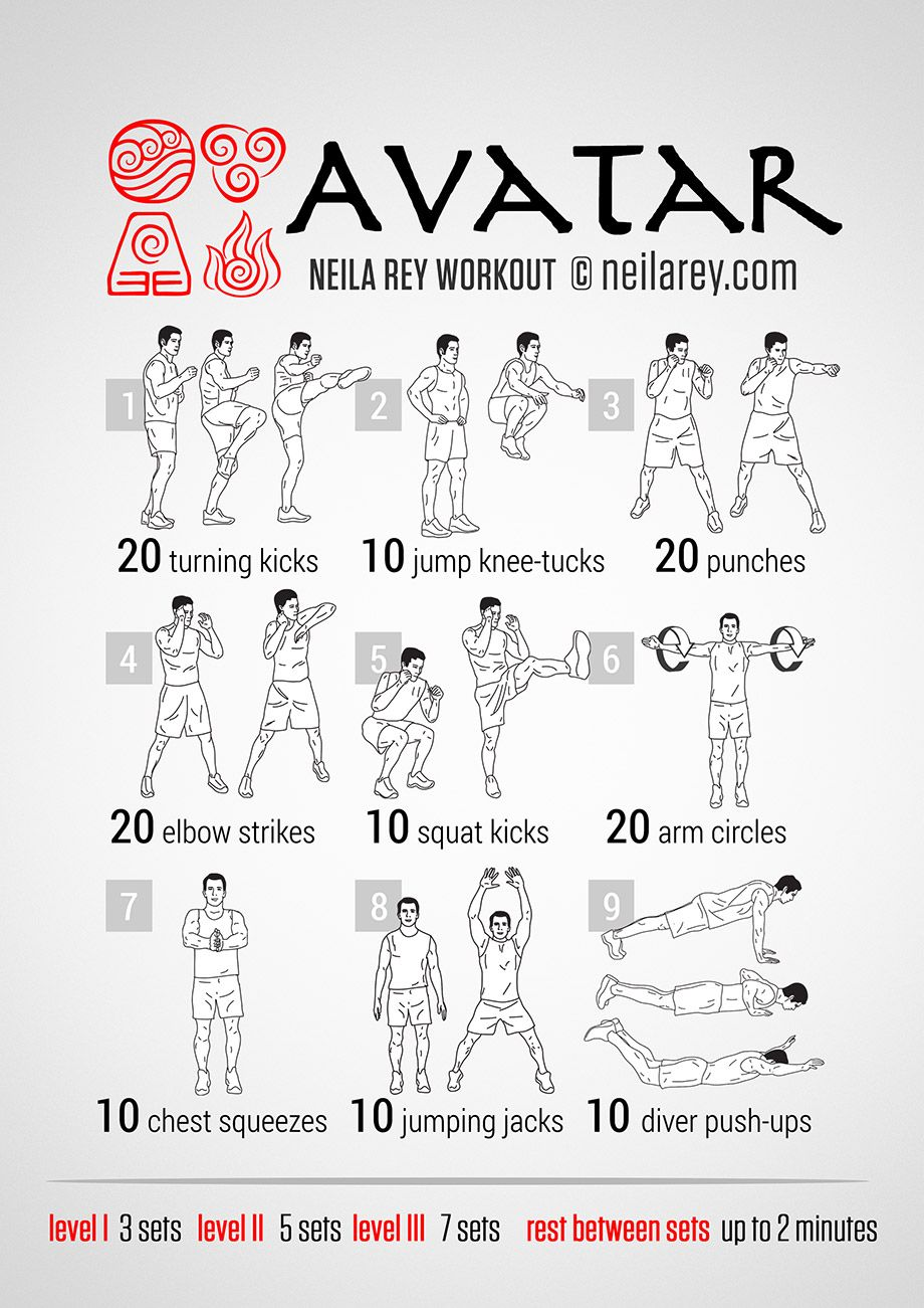 Très Avatar Workout | neilarey.com | #fitness #bodyweight | Boxing  DB56