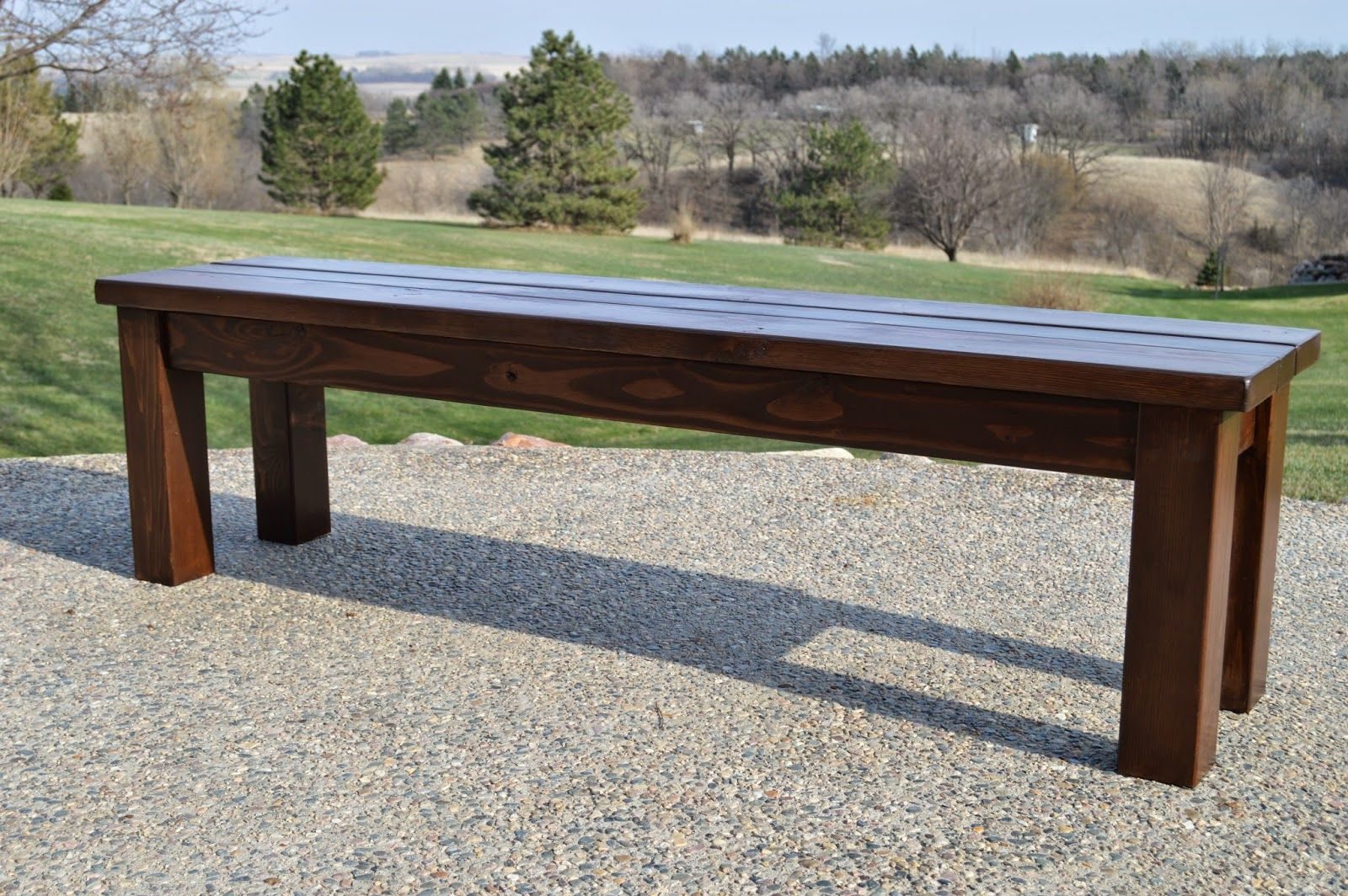 Bench Seating For Patio Table   KRUSEu0027S WORKSHOP: Simple Indoor/Outdoor  Rustic Bench Plan