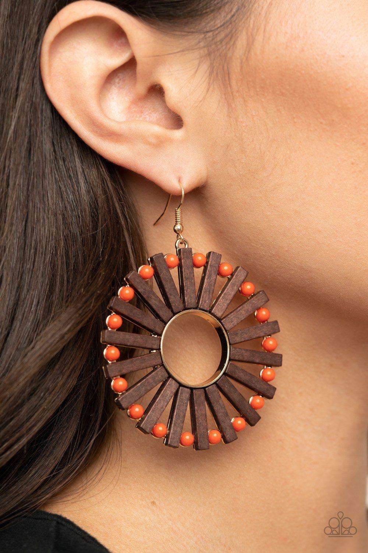 Wood Triple Rectangle Drop Earrings Accessories  Jewelry