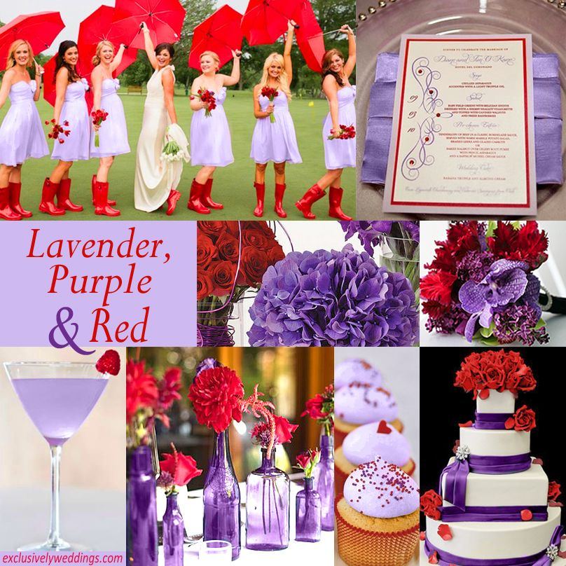 Lavender Purple And Red Wedding Wedding Color Combinations