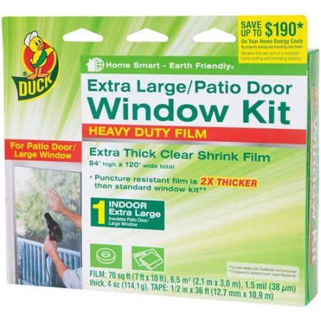 Duck Brand Heavy Duty Window Shrink Kit Extra Large Patio Door