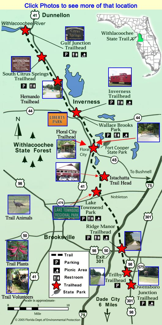 Withlacoochee Trail Map Trail Maps Florida Adventures Places