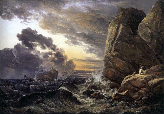 Morning after a Stormy Night 1819 -  Johan Christian Clausen Dahl.  Oil on canvas, 75 x 105 cm Neue Pinakothek, Munich