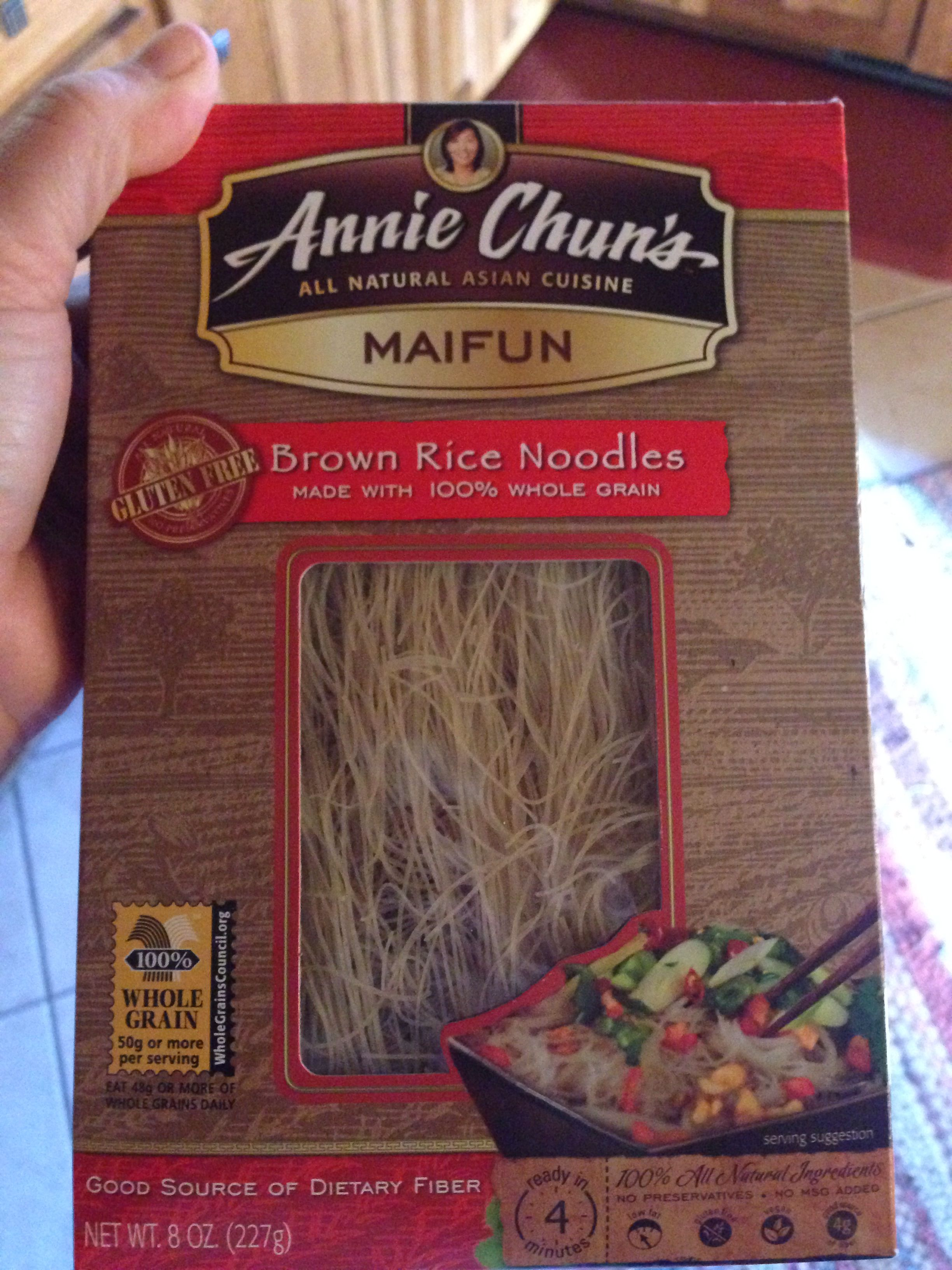 Annie Chun's Brown Rice Noodles (@ Kroger In Theanic Section)  #glutenfree