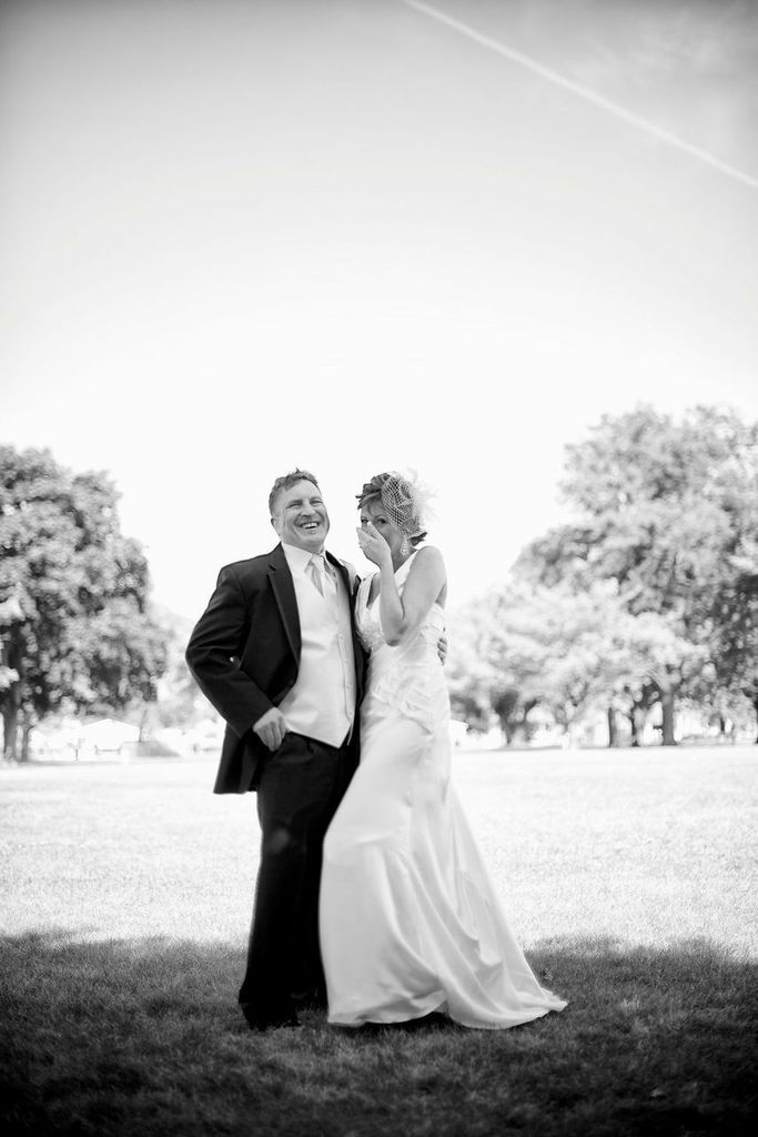 An Amazing Wish Upon A Wedding At The Thomas Welsh Activity Center In The Lake St Clair Metro Park Featuring Teal Orange Photo White Accents Black And White