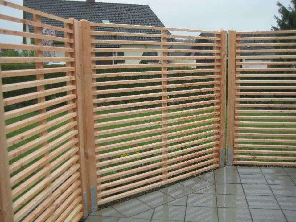 Villani Holz Im Garten Sichtschutz Holz Im Garten Garten Garten Ideen