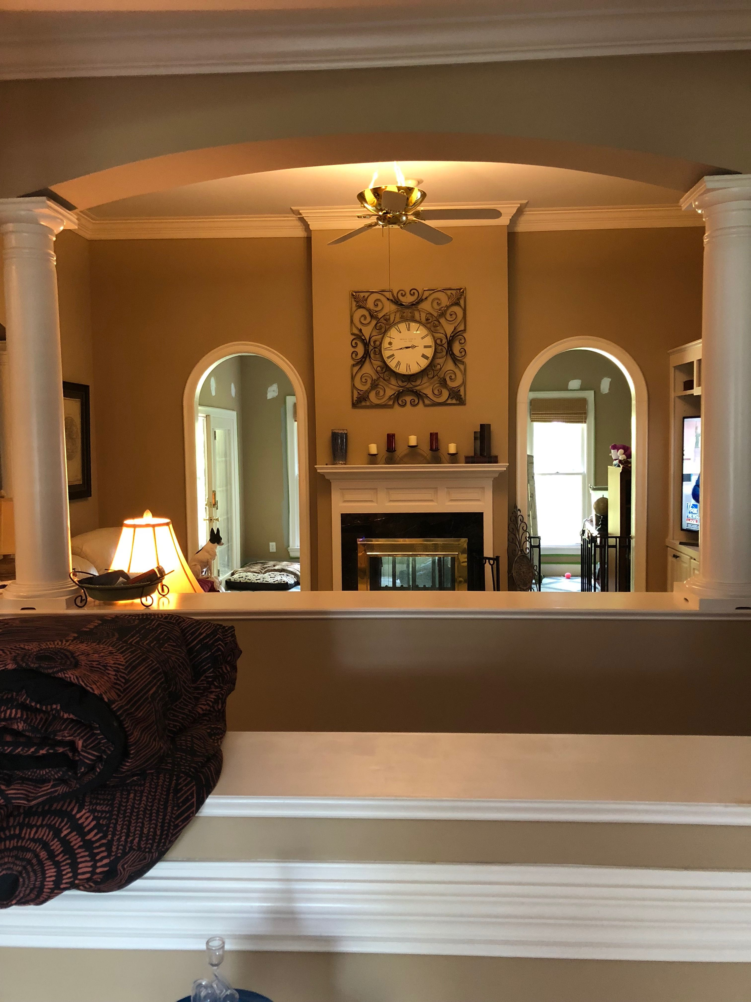 Before 6 Half Wall Edging Living Room Note Arched Openings Half Walls Home Home Decor