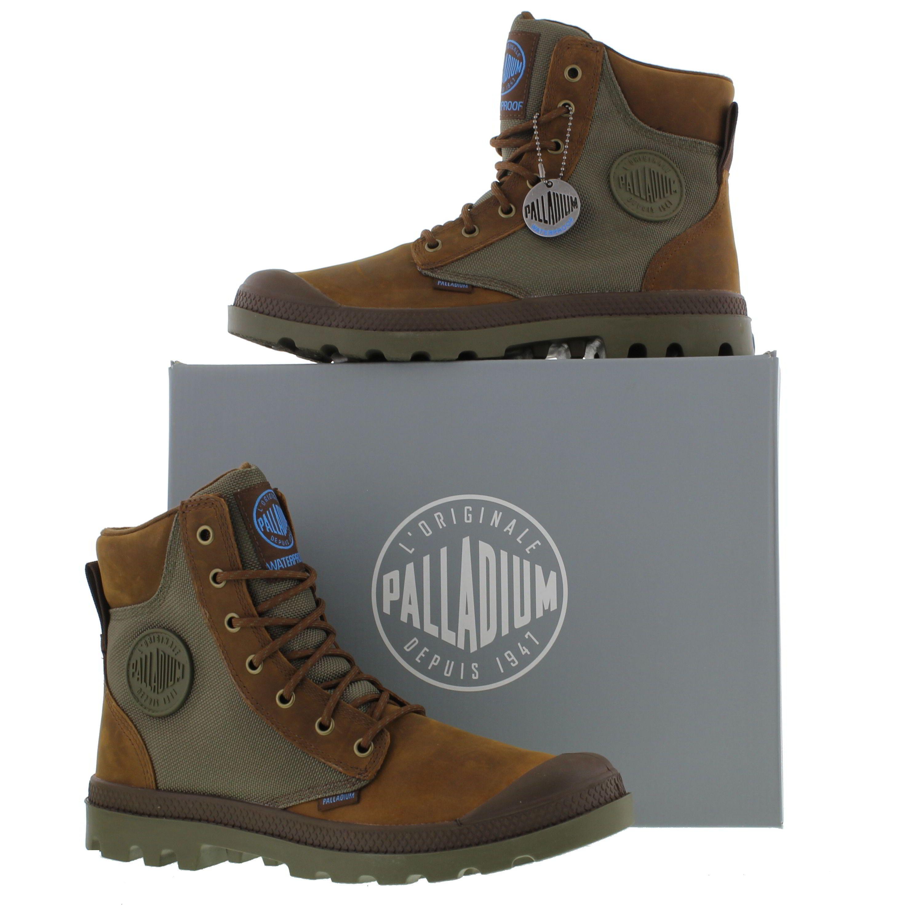 Palladium Mens Pampa Sport Cuff Waterproof Boots - Brown Green