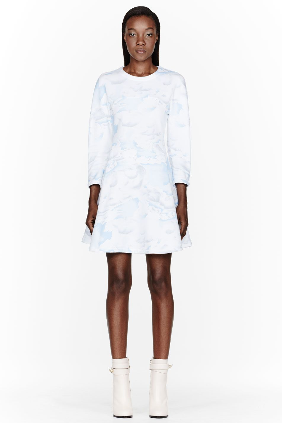 d4709a3a KENZO | Blue and white Cloud Sweater Dress $460 | This is SO me ...