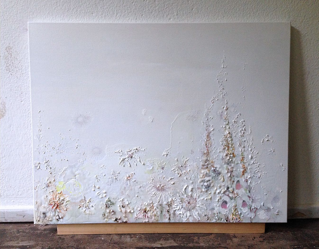 Ellen Grote Beverborg, 'mooie dag' 2015, 70 x 90 cm, acyl gel doek, coderood.co 27 juni 2015