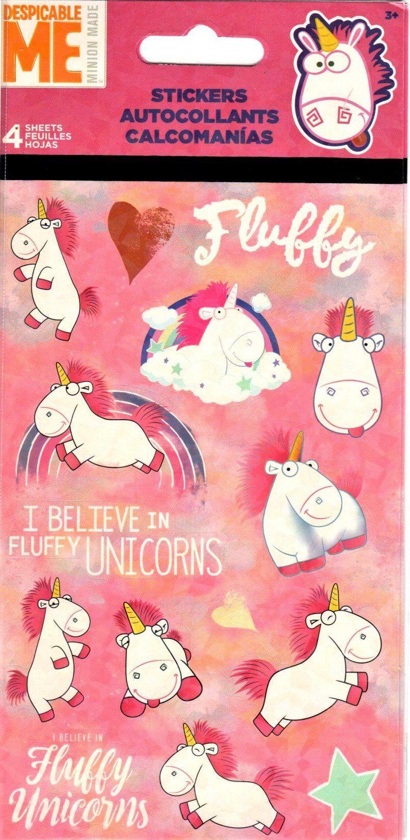 Unicorn Sticker Sheet I Believe in Unicorns Unicorn Themed Party 35 stickers
