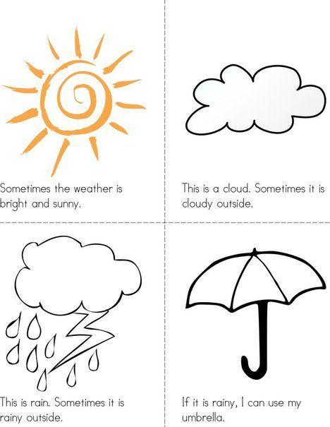 Weather Time Mini Book Weather Books Mini Books Weather